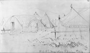 Williams, Edward Arthur, 1824-1898 :R A & R E Mess whare. Pukerimu. 17.4. [18]64.