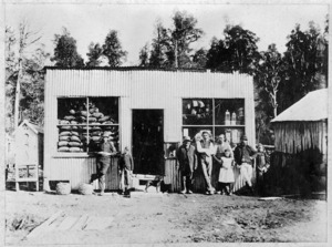 Shop front of Jackson and McCormick's general store in Taihape