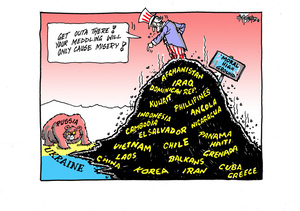"""Hubbard, James, 1949- :""""Get outa there! your meddling will only cause misery!"""". 19 March 2014"""