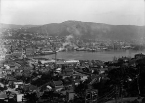 Part 4 of a 4 part panorama overlooking Wellington City
