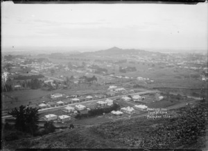 Epsom and One Tree Hill from Mount Eden, Auckland