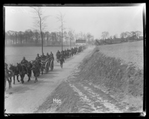 New Zealand artillery on the march