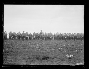 The New Zealand Band playing at the Anzac Horse Show, World War I