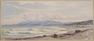[Barraud, Charles Decimus], 1822-1897 :Hokitika, looking towards Greymouth. [December 1874?].