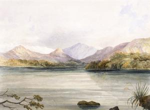 [Fox, William (Sir)], 1812-1893. Attributed works :Lake Rotoiti, West Branch. [1860s?].