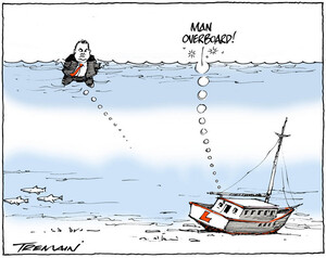 "Tremain, Garrick, 1941- :""Man overboard!"" 29 April 2014"