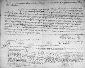 Hand written deed leasing Maramamau, Wairarapa, to C R Bidwill, signed by Wi Kingi, Manihera, Bidwill and others