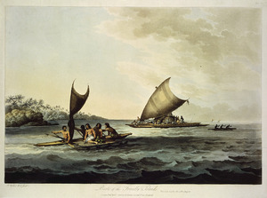 Webber, John 1751-1793 :Boats of the Friendly Islands. J. Webber R. A. fecit. London, publ April 1 1809 by Boydell & Comp.y No. 90 Cheapside.