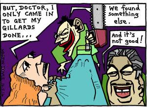 Doyle, Martin, 1956- :Surgery at Hockey Hospital. 14 May 2014