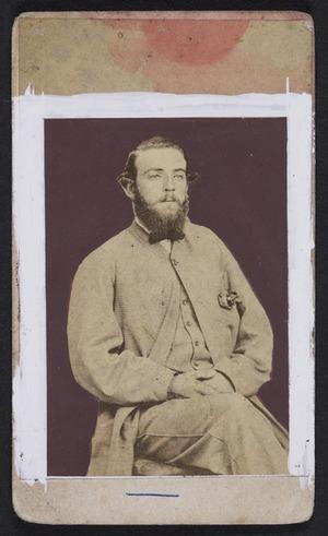 Webster, Hartley (Auckland) fl 1852-1900 :Portrait of Captain Gilbert Mair