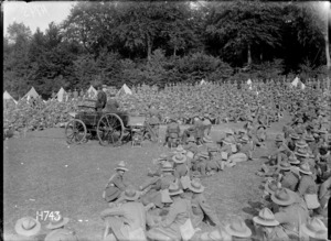 William Massey and Joseph Ward addressing an entrenching group in France during World War I