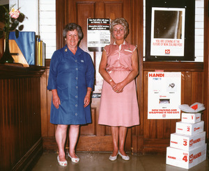 Margaret Karl and Linnete Steele at Ohaupo Post Office
