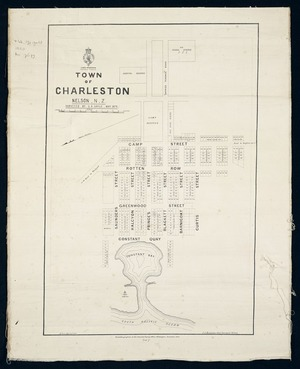 Town of Charleston, Nelson, N.Z. / surveyed by G.R. Sayle, May 1873.