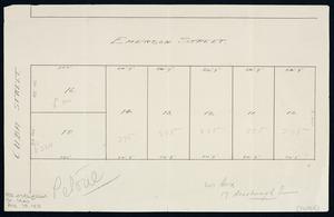 [Creator unknown] :Petone, Cuba Street [and] Emerson Street [ms map]. [ca 1940].