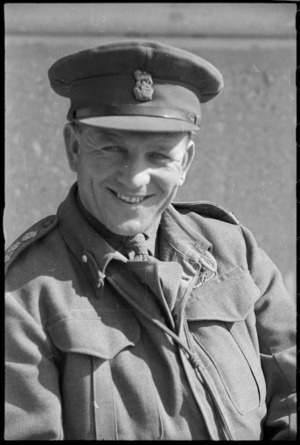 New Zealander Brigadier I L Bonifant, Italy, during World War 2
