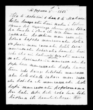 Letter from Ropiha Takihau and others to McLean
