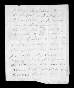 Undated letter from Wi Te Ahoaho to McLean