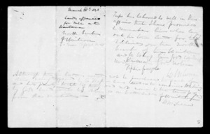 Document relating to land offered at Waitara with covering note from McLean