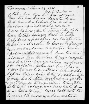 Letter from William Haronga to McLean