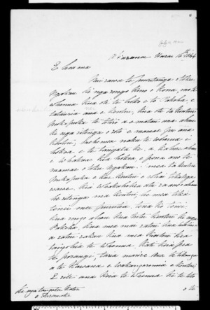 Letter from George Clarke, Protector of Aborigines, to chiefs of Taranaki