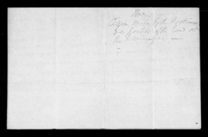 Letter from Raniera Te Iho to George Grey