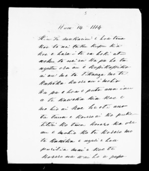 Letter from Paora Torotoro to McLean