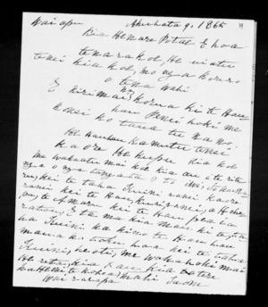 Letter from Hemi Te Kohea to Henare Potae