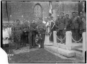 All Souls' Day memorial funeral burial service, in the churchyard of St Martin's, Selles, Pas de Calais, France