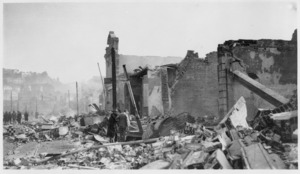 Rubble and damaged buildings after the 1931 Hawke's Bay earthquake