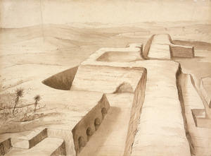 [Heaphy, Charles] 1820-1881 :[Earthworks of Rangiriri Pa, taken 20th Nov. 1863]