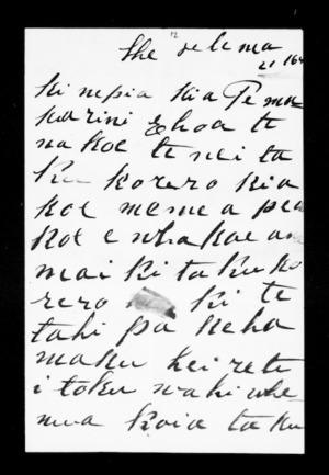 Letter from Nikora Te Herewhitau to McLean