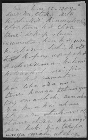 Letter from Te Hapuku and others to McLean
