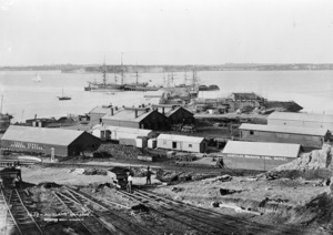 Railway yards and wharf, Auckland