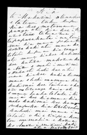 Letter from Raima Henare to McLean