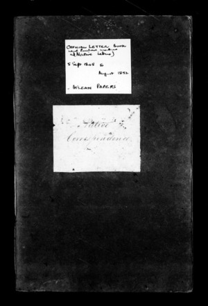 Official letter book (Land purchase matters and Native letters)