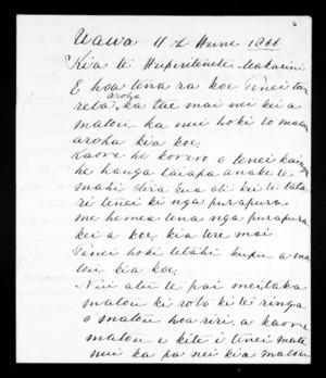 Letter from Henare Potae, Karauria Pahura to McLean