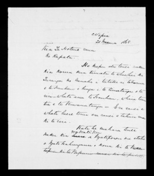 Letter from McLean to Te Hotene and Rapata