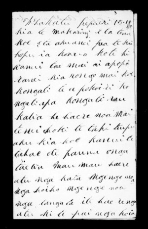 Letter from Ngaruhe to McLean