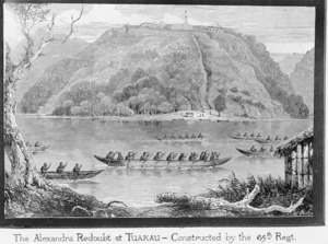 Illustrated London news :The war in New Zealand. The Alexandra Redoubt at Tuakau, on the Waikato River [London, 1863]