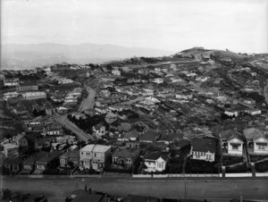 Part 3 of a 4 part panorama looking over the suburb of Brooklyn, Wellington