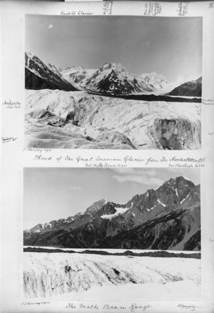 Head of the Tasman Glacier, the Malte Brun Range