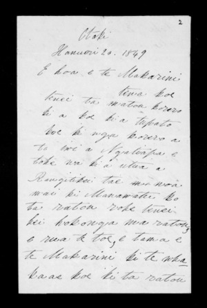 Letter from Hakaraia and Ngati Raukawa to McLean (with translation)