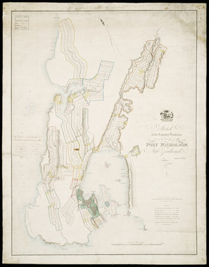 Sketch of the country districts in the vicinity of Port Nicholson, New Zealand , Jan. 4th, 1843 [cartographic material] engraved by R.H. Davies.