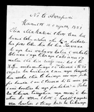 Letter from Karaitiana to McLean (with translation)