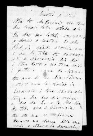Letter from Morena to McLean
