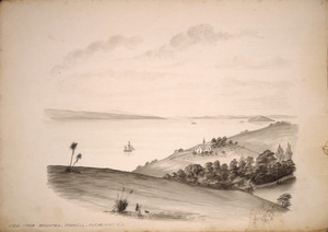 Backhouse, John Philemon 1845-1908 :View from Brighton, Parnell, Auckland, N.Z. 23.2.[18]71.