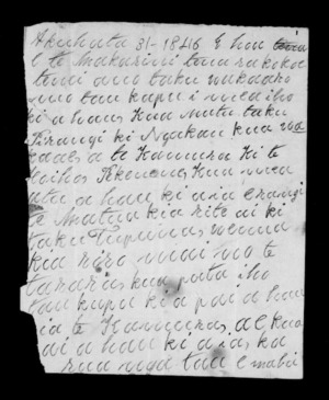 Letter from Kawana Pitiroi to McLean