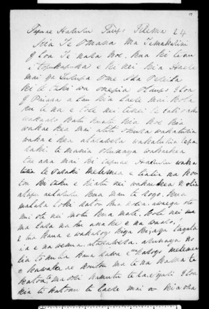 Letter from Te Pokiha to Te Kanara and Tonore