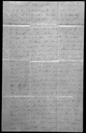 Letter from Te Manihera Te Rangitakaiwaho to McLean