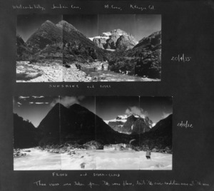 Two views of the Whitcombe Valley and Mount Evans